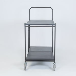 Solid Two Shelf Folding Trolley