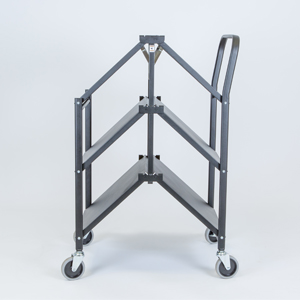 folding trolley solid three shelf folding e