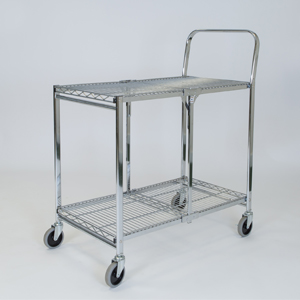 Two Shelf Wire Folding Trolley