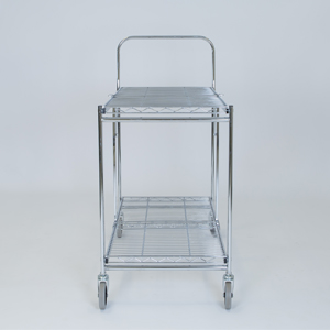 folding trolley wire two shelf empty b