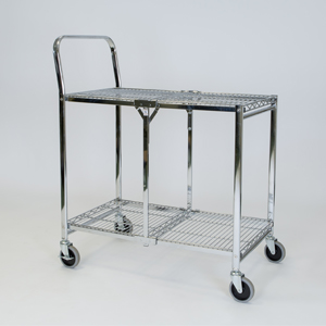 folding trolley wire two shelf empty c