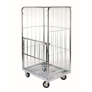 Drop Down Gate Laundry Roll Cage