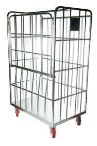 4 Sided Laundry Cage With Drop Down Gate